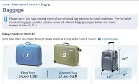 united airlines domestic baggage us rejects delay request from global airlines on bag fee