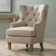 High Back Accent Chair Reese Studio Oatmeal High Back Accent Chair 8g308 Ls Plus