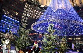 christmas decorations at mall in berlin germany entertainment