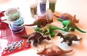 tutorial make glittered dinosaur ornaments dollar store crafts