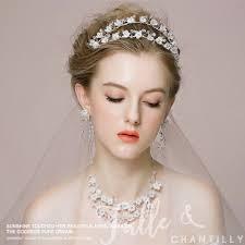 wedding hair with headband silver flower bridal hair headband wedding accessories twahp028