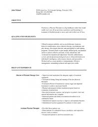 respiratory therapist resume objective physical therapy resume sample physical therapy resume examples