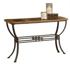 Wood Sofa Table Iron Wood Console Table Foter