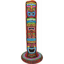Printable Hawaiian Decorations Our Inflatable Jumbo Tiki Pole Decoration Features Three Brightly