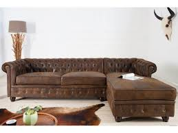 canap chesterfield microfibre d angle droit capitonné en microfibre vintage chesterfield 280 cm