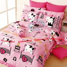 sanrio hello kitty bedding set queen size duvet cover fitted sheet