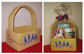 paper mache easter baskets painted easter baskets made of paper mache make gifts