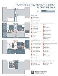 Recreation Center Floor Plan by Arc Facility Map Campus Recreation