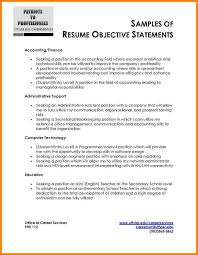 Example Of Resume Objective Statement by 5 Accounting Resume Objective Statement Examples Cashier Resumes