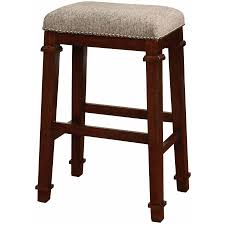 Bar Stool Cushion Furniture Backless Bar Stools Cushions In Brown With Polished