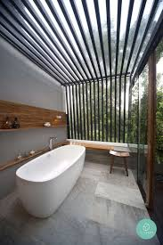 outdoor bathtub bathroom modern outdoor bathroom decor with grey tiles floor and