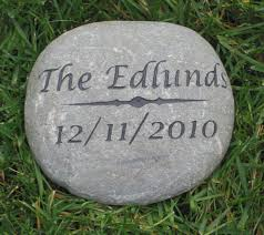personalized garden stones wedding home outdoor decoration