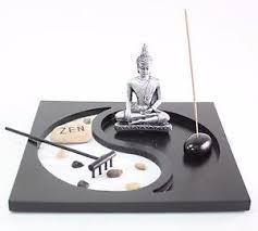 Tabletop Rock Garden Tabletop Taiji Yin Yang Buddha Zen Garden Sand Rock Incense Burner