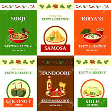 composition cuisine indian cuisine special offer flat icons composition poster with