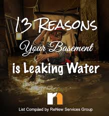 13 reasons your basement is leaking water waterproofing