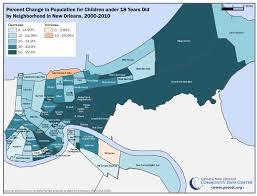 The Loss Of Children From New Orleans Neighborhoods The Data Center Bureau De Change Orleans