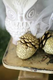 glitter acorn ornaments lolly