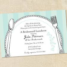 bridesmaid luncheon invitations sweet wishes bridal place setting brunch luncheon invitations