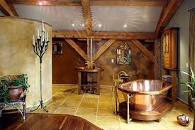 bathroom breathtaking rustic bathroom decor with bronze oval