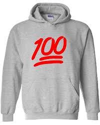 amazon com icustomworld 100 emoji red hoodie keep it hip hop