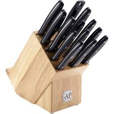 arthur price 14 piece wooden knife block set zapk0002 ecookshop