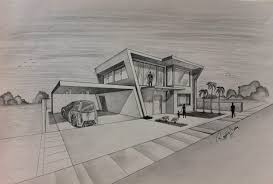 contemporary architecture design drawing house progress and
