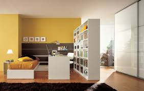 Bookshelves Nyc by Furniture Hiden Wooden Bookcase Divider With Maroon Carpet Floor