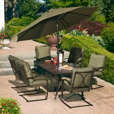 Woodard Landgrave Patio Furniture - hd designs outdoors mary hill 7 piece dining set green black