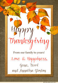 simple gifts happy thanksgiving photo card 2018 blessings autumn