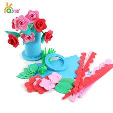 aliexpress com buy children diy eva sticker flower toys kids