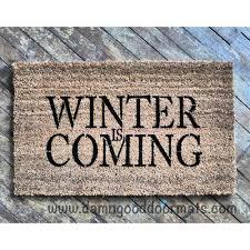 winter is coming game of thrones door mat doormat