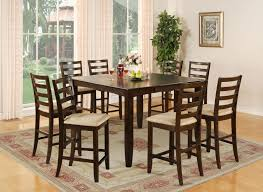 Square Dining Table 8 Chairs Pc Square Counter Height Dining Table Upholstered Chairs Pictures