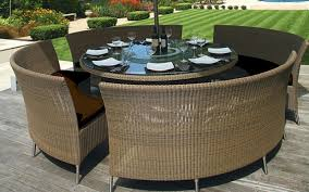 innovative round patio table seats 8 cohens garden state table