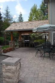 Covered Outdoor Kitchen Designs by Outdoor Kitchen Designs For Portland Oregon Landscaping