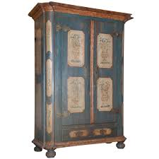 Painted Armoire Furniture Austrian Painted Armoire At 1stdibs