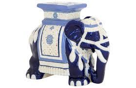 elephant vase ceramic elephant garden stool janney u0027s collection