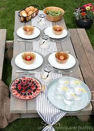 Summer Entertaining Ideas - outdoor table setting ideas taryn whiteaker