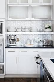 white kitchen cabinets with hexagon backsplash hexagon backsplash contemporary kitchen style at home