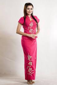 model thiri shinn that with beautiful red myanmar fashion dress