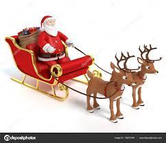 santa sleigh and reindeer santa sleigh and reindeer stock photo wesabrams 132073474