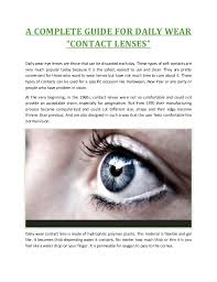 Most Comfortable Contacts For Astigmatism A Complete Guide For Daily Wear Contact Lenses