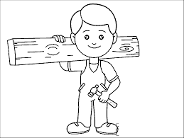 carpenter coloring pages wecoloringpage