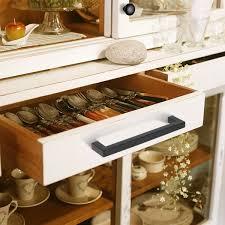 kitchen cupboard handles in black 1 2 square cabinet handles black finish 160mm 6 3 10inch centers pddjs12hbk160