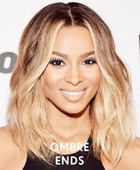 textured shoulder length hair spice up your medium length hair with ombre ends like ciara s