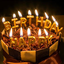 birthday cake candles new gold color birthday cake candles decorations happy birthday