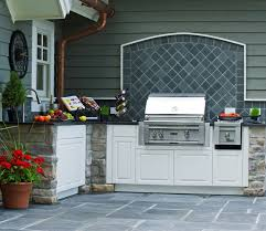 outdoor kitchen backsplash cover up rear door with backsplash and grill exterior