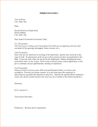 cover letter addressed to hr the letter sample