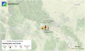 Montana State Map by Rare M U003d5 8 Montana Earthquake The Largest To Hit The Region Since