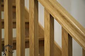 Oak Banister White Oak Stop Chamfered Balusters Square Stair Balusters