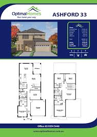 double storey optimal homes brochure